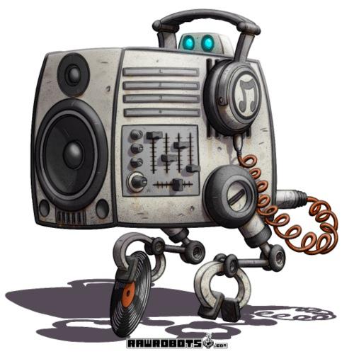The S.O.U.N.D. Robot! - Herre premium T-shirt