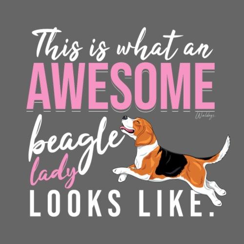 Awesome Beagle Lady - Miesten premium t-paita