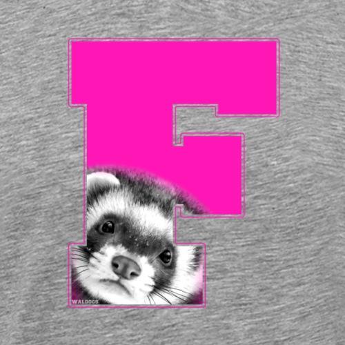 Ferret Pink - Miesten premium t-paita