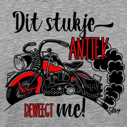 Dit stukje antiek beweegt me! (zwart rood grijs) - Mannen Premium T-shirt