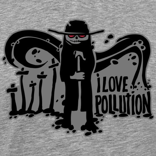 écologie - i love pollution - T-shirt Premium Homme