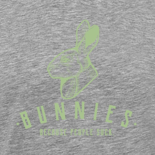Bunnies Because - Miesten premium t-paita