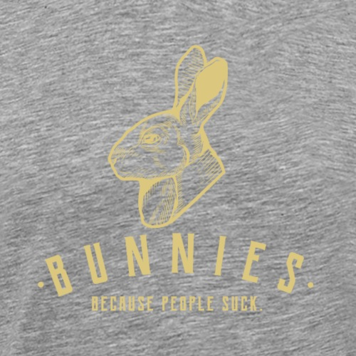 Bunnies Because II - Miesten premium t-paita