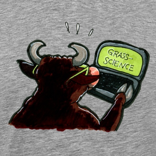Drôle de drôle de vache lunettes cadeau ordinateur portable science - T-shirt Premium Homme
