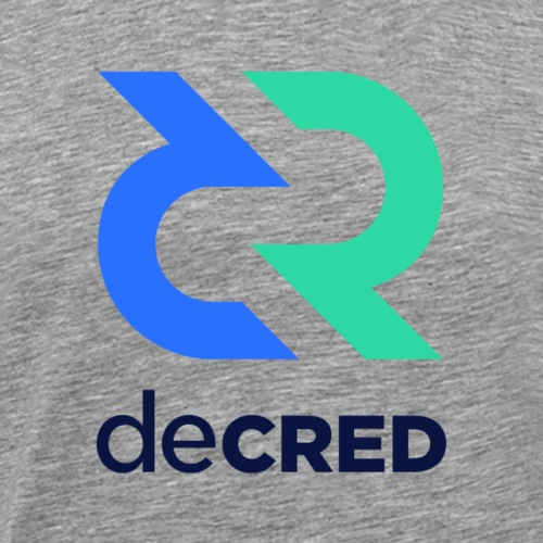 Decred logo vertical color dark - Mannen Premium T-shirt