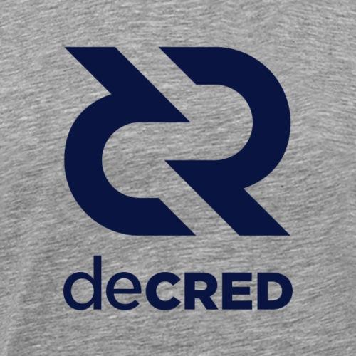 Decred logo vertical dark - Mannen Premium T-shirt