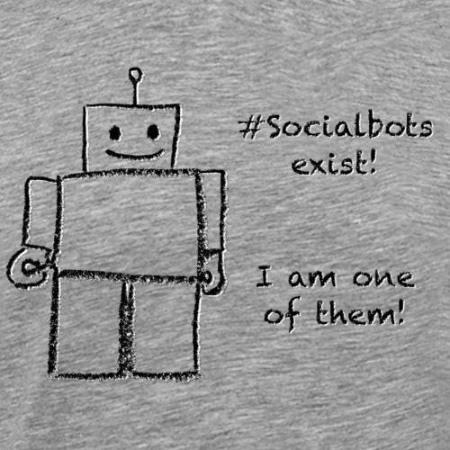 Social Bots exist - Männer Premium T-Shirt