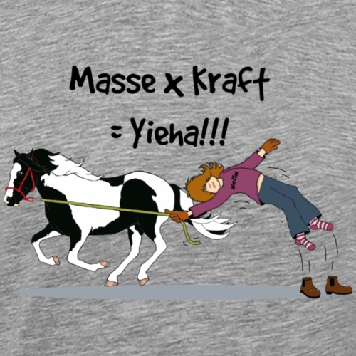 Masse x Kraft = Yieha - Männer Premium T-Shirt