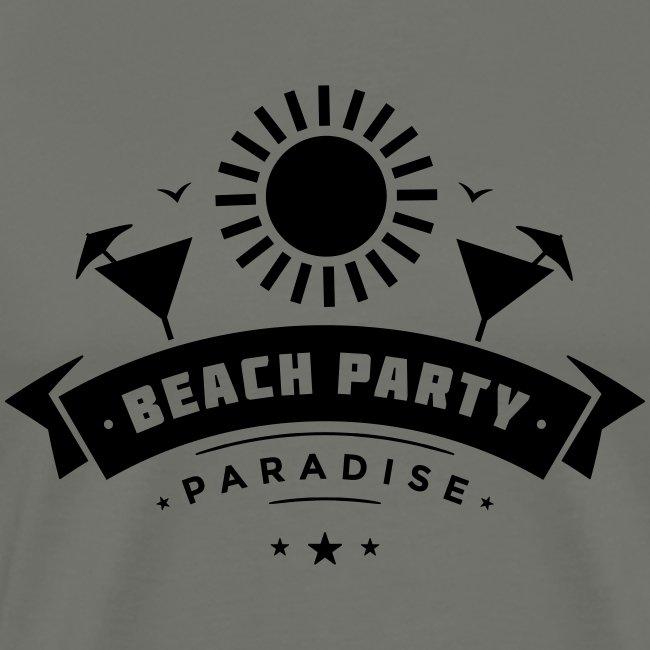 Beach party paradise