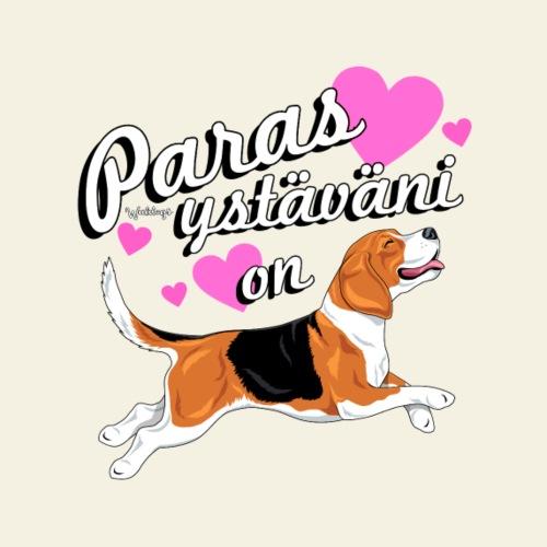 Beagle Ystäväni On - Miesten premium t-paita