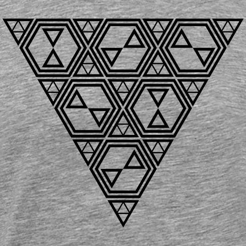 triangle and hexagon design - Men's Premium T-Shirt
