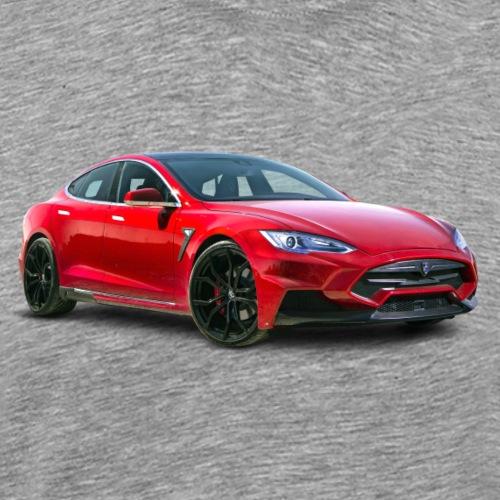 Tesla model S - Premium T-skjorte for menn