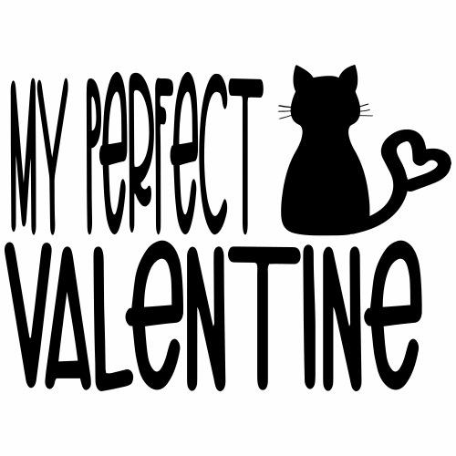 Valentine catlover - T-shirt Premium Homme