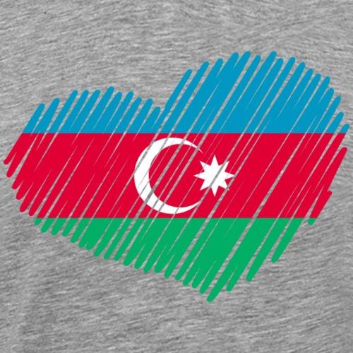 coeur azerbaidjan drapeau - T-shirt Premium Homme