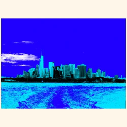 Skyline blu - Maglietta Premium da uomo