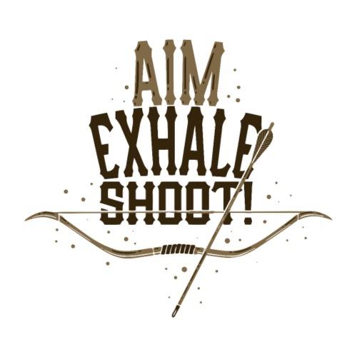 Exhale Shoot Master - Männer Premium T-Shirt