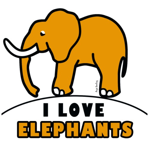 Elefant - I LOVE ELEPHANTS - Männer Premium T-Shirt