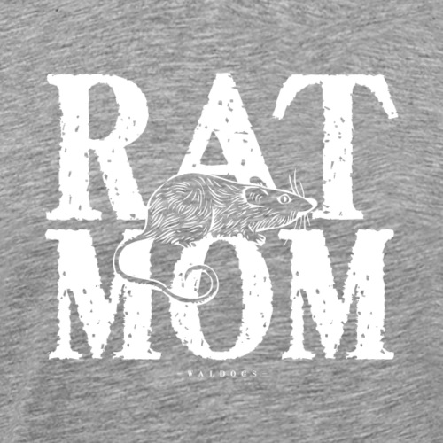 Rat Mom White - Miesten premium t-paita