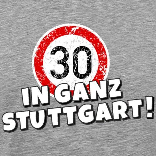 Tempo 30 in ganz Stuttgart - Männer Premium T-Shirt