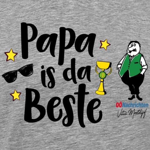 Papa is da Beste - Männer Premium T-Shirt