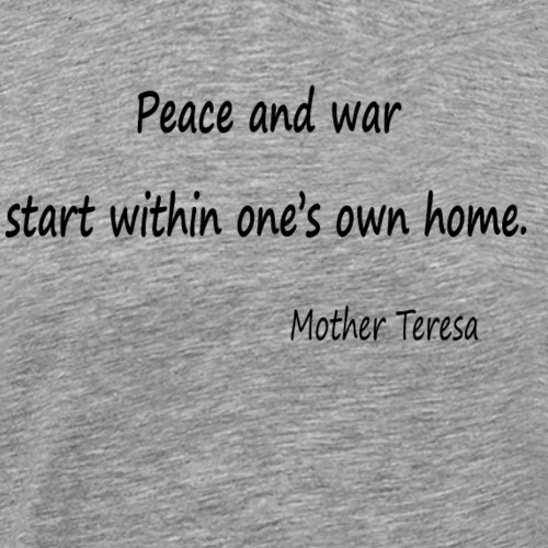 Peace and War - Men's Premium T-Shirt