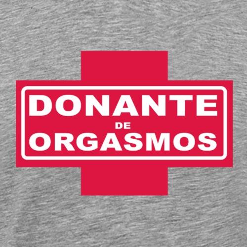 Donante de Orgasmos sobre cruz roja - Camiseta premium hombre