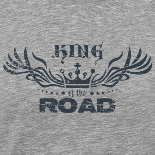 King of the road dark - Mannen Premium T-shirt