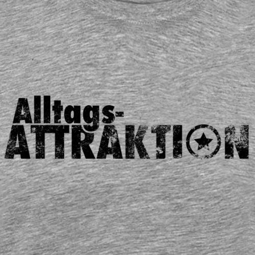AlltagsATTRAKTION schwarz - Männer Premium T-Shirt