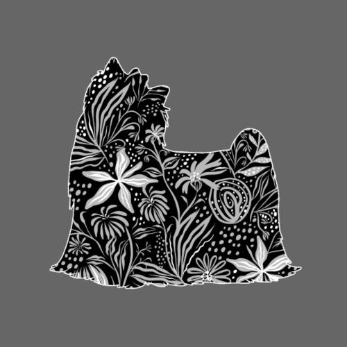 Flower Yorkie - Miesten premium t-paita