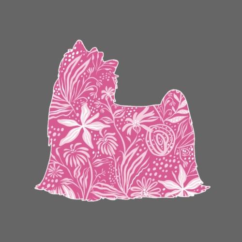 Flower Yorkie II - Miesten premium t-paita