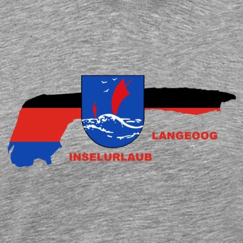 Langeoog Nordsee Insel Urlaub - Männer Premium T-Shirt