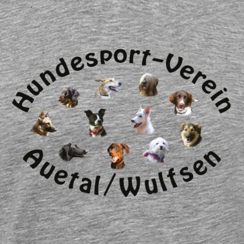 HVA Logo schrift schwarz - Männer Premium T-Shirt