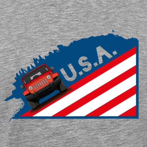 Die Retro Geländewagen Ikone als coole USA Grafik - Männer Premium T-Shirt
