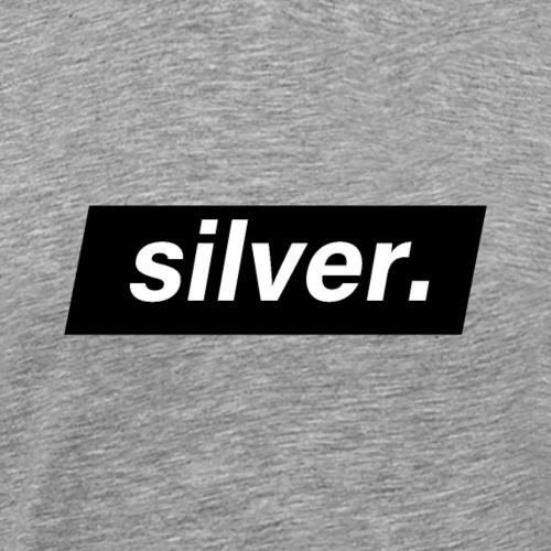 silver - T-shirt Premium Homme