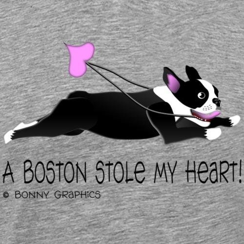 Boston terrier thief (black and white) - Men's Premium T-Shirt
