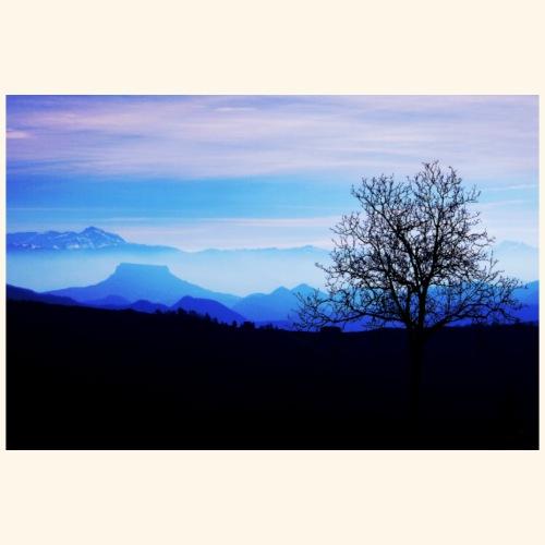 Paesaggio blu - Maglietta Premium da uomo