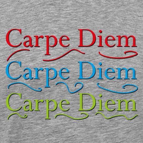 carpe diem - Nutze den Tag - Männer Premium T-Shirt