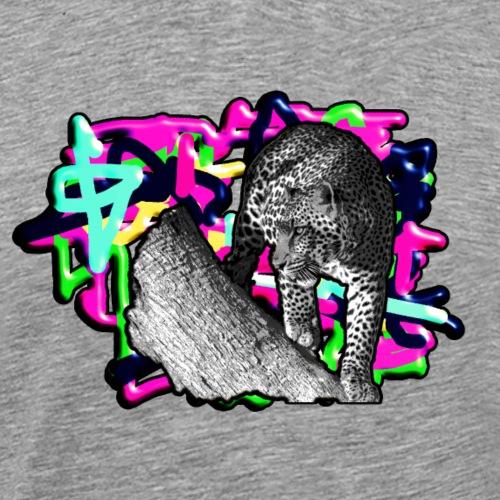 Leopard auf Bunt - Männer Premium T-Shirt