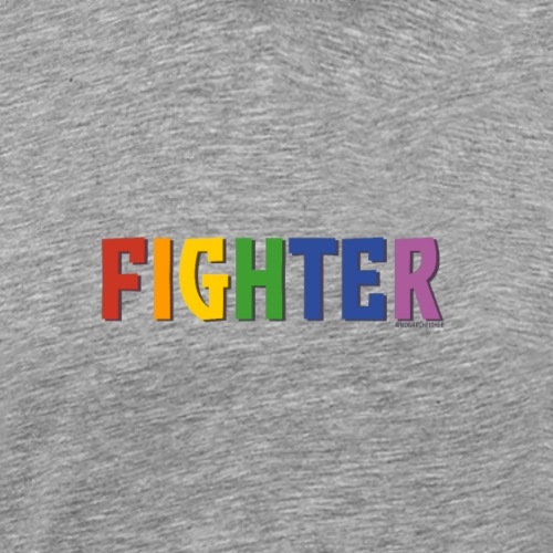 Fighter Pride (Rainbow) - Men's Premium T-Shirt