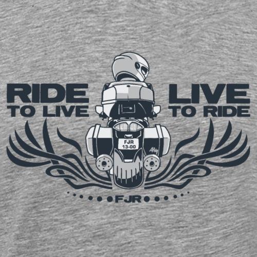 0852 fjr live2ride ride2live top duo - Mannen Premium T-shirt