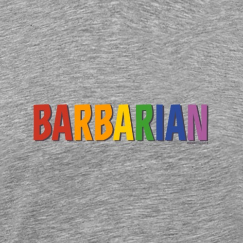 Barbarian Pride (Rainbow) - Men's Premium T-Shirt