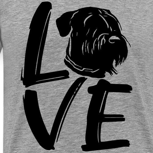 LOVE Riesenschnauzer Schnauzerliebe Liebe Hunde - Männer Premium T-Shirt