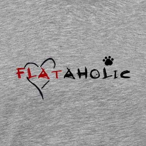 flataholic schwarz - Männer Premium T-Shirt