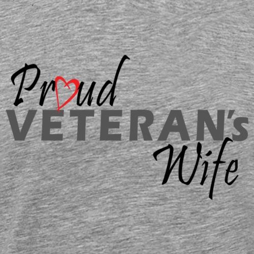 ProudVeteranWife-Black - Herre premium T-shirt