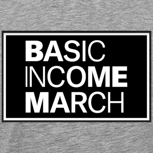 basic income march - Mannen Premium T-shirt