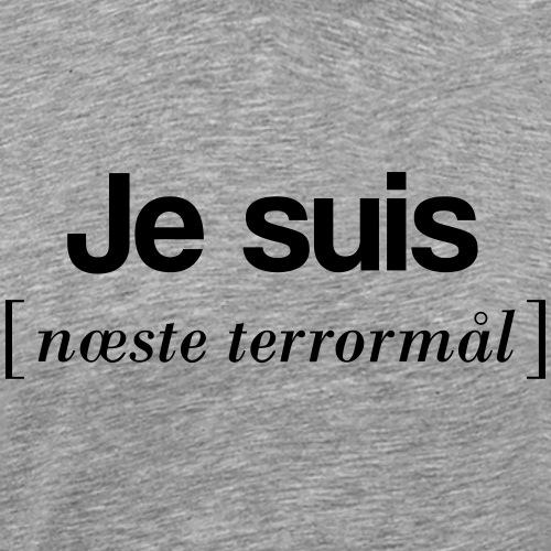 Je suis (sort skrift) - Herre premium T-shirt