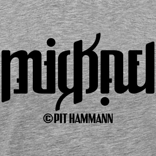 Ambigramm Mickael 01 Pit Hammann - Männer Premium T-Shirt