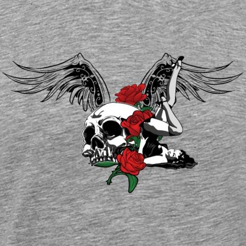 pin-up-skull - Maglietta Premium da uomo