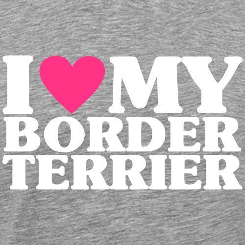 iheartmyborderterrier - Men's Premium T-Shirt