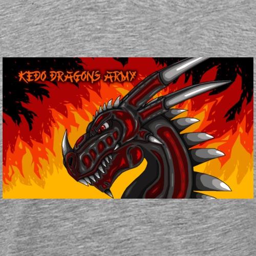 Drache Black Red KeDoArmyAsia - Männer Premium T-Shirt